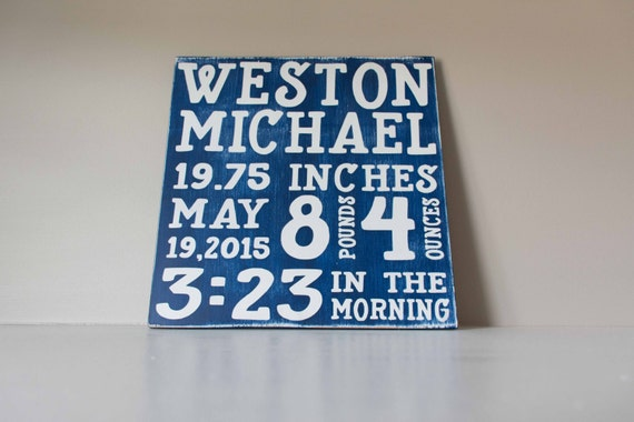 Baby Stats Wood Sign, Birth Details, Birth Announcement Sign, Baby Wall Art