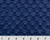 Cuddle Dimple Navy - Minky Dots - Shannon Fabrics - 1 Yard