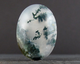 Green Moss agate cabochon , semiprecious stone, Jewelry making suppliesbS7142