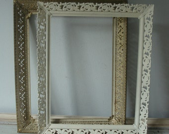 Vintage Picture Frames/Gold Ornate Picture Frame/Shabby Chic Picture Frame/Open Frames