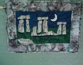 Stonehenge mini wall hanging