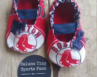 Boston Red Sox Inspired Baby Maryjane Booties