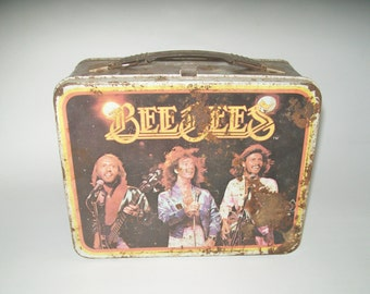 Vintage Bee Gee's Lunch Box Thermos Brand 1978