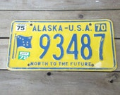 Alaska Vintage License Plate