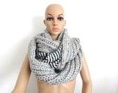 ON SALE two Scarfs, Knitt Scarf, İnfinity Scarf, Chunky Scarf, Trendy Scarf, Knitting Scarf,chiffon scarf