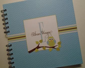 Baby Book |  Baby Memory Album | Owl Wire Bound Baby Memory Book