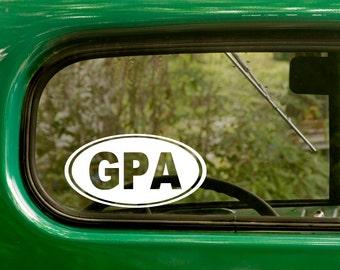 GPA Decal, Grandpa Decal, Grandfather Sticker, Car Decal, Grandfather Decal, Laptop Sticker, Oval Sticker, Bumper, Vinyl Decal, Car Sticker