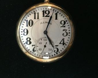 ILLINOIS Pocket Watch 19 Jewels