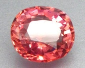 5.35 ct. Lab Created Simulated Red Pink Orange Padparadscha Sapphire