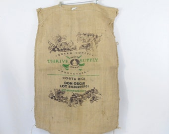Burlap Coffee Bag Coffee Beans Thrive Supply Coffee Gunny Sack Costa Rica Advertising