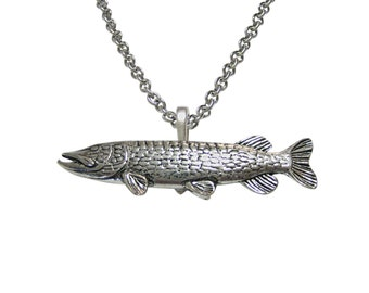 Pike Fish Pendant Necklace