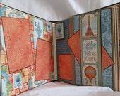 Scrapbook Album, Graphic 45 World's Fair Mini Album by Island Lilly Designs