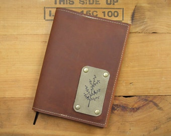 "5 ""X 7"" Refillable Leather Journal-Tree"