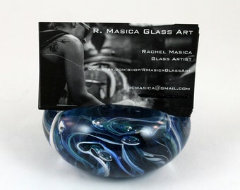 Handmade Glass-Business Card Holder
