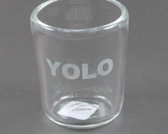 Hand Blown-Sandblasted-Glass Cup