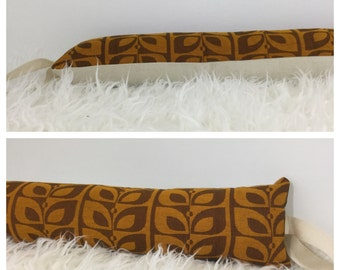 Extra Long Vintage Fabric Draught Excluder Mid Century 50s 60s Fabric