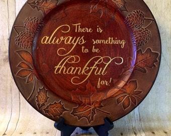 Thanksgiving Charger Plate- Fall Decor- Thanksgiving Centerpiece