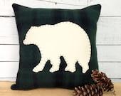Black Bear Decor, Rustic Home Decor, Bear Pillow, Rustic Cabin Pillow, Woodland Decor, Rustic Throw Pillow, Woodsy Decor, Lodge Decor Pillow