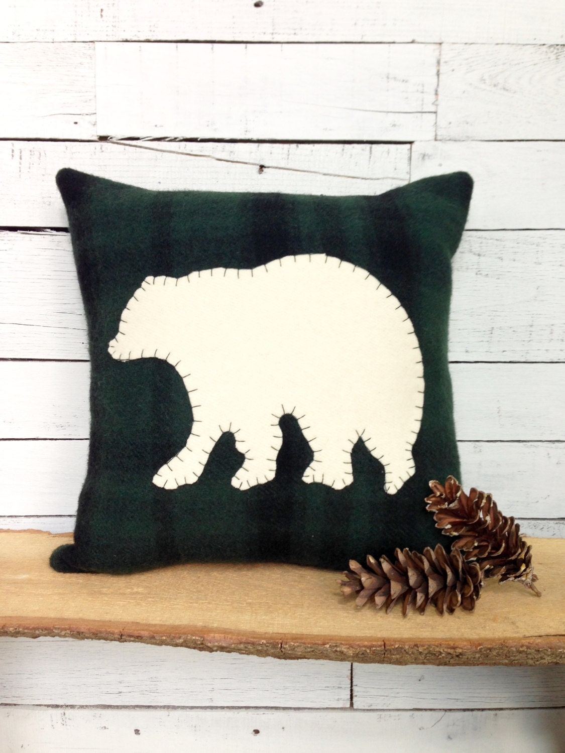 Black bear decor rustic home decor bear pillow rustic cabin for Rustic bear home decor