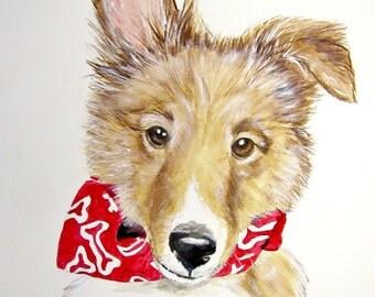 Sheltie Print, Shetland Sheepdog Painting, Sheltie Art, Sheltie Wall Art, Sheltie Home Decor, Sheltie Wall Decor, Sheltie Gifts