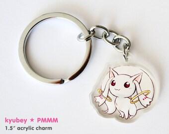 Kyubey // Puella Magi Madoka Magica // Acrylic Keychain Charm