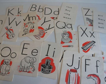 Vintage Alphabet SIGHT cards with pictures