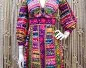 1960s vintage floral patterned Designer dress by Shannon Rodgers for Jerry Silverman