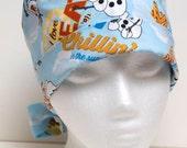 Ladies Surgical Scrub Hat - Chemo Cap - Pixie - Frozen Olaf