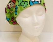 Ladies Surgical Scrub Hat - Cap - Bouffant - Hello Kitty