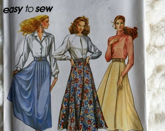 Simplicity Womens Pleated Skirts and Belts Sewing Pattern 7980 Size 12 14 16 18 UC FF Uncut