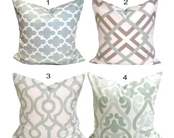 Pale GREEN Pillows. Pale Green Decorative Pillow Cover.Gray Home Decor.Housewares, Light Green Pillow, Artichoke Green Pillow Cover. Cushion