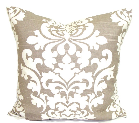 Cute Neutral Throw Pillows : Taupe PILLOWS Neutral Pillow Cover Decorative Pillow Throw