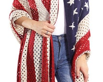 Boho American flag clothing cowgirls poncho outfit, Plus Size Poncho, western country music clothing, Oversized  poncho, large Blanket Shawl