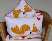 FOXIES PDF applique pattern for two cushions