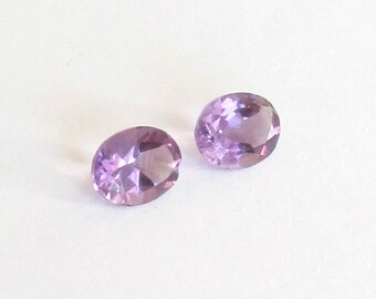 Natural Purple Amethyst, Unheated, Oval Cut, Lot (2) of 3.44 carats