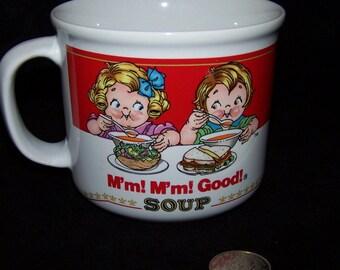 Campbell Kids M'm! M'm! Good! Vintage 1989 The 14oz Soup Bowl By Campbells