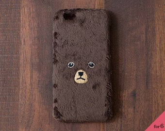 Bear iPhone Cover for iPhone6 / 6s [hard type] Brown