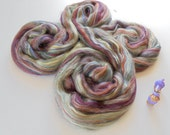 Jamaica - Multicolor Merino & Tussah Silk Top from Ashland Bay - 2 oz of Multicolor Combed Top for Spinning or Felting