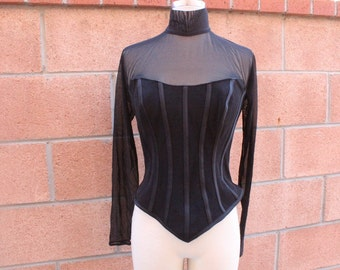 Black goth inspired corset type top