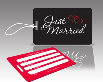 2 JUST MARRIED Luggage Tags