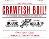 Digital files for Crawfish Invitations