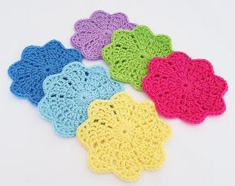 Crochet Flower Petal Coaster Pattern, Crochet Coaster Pattern, Crochet Pattern 016, Instant Download