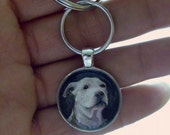Custom Pet Portrait Keychain // Miniature Painting // Sporting and Hunting Dog // Gift for Him // Pet Tribute // Dog Memorial // Pet Loss