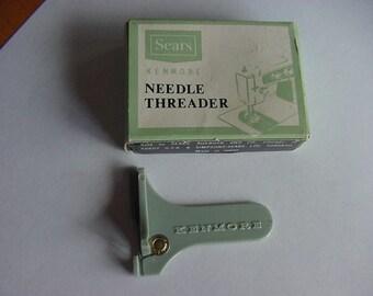 Vintage Sears Kenmore Needle Threader, Original Box, Sewing Notions, Sewing Supplies