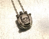 Frankenstein Necklace, In the Palm of My Hand Necklace, Modern Prometheus Necklace, Holiday Gift