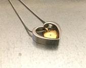 Cremation Necklace, Urn Locket, Ashes Holder Necklace, Cremation Locket, Memory Locket, Cremation Jewelry, Heart Locket
