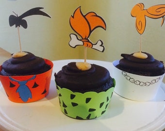 The Flintstones Cupcake Wrapper and Topper
