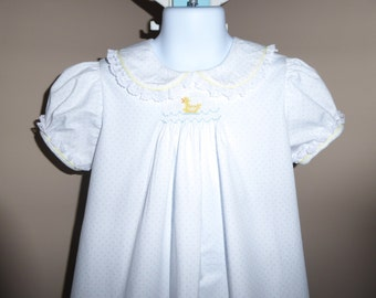 Little Duck Hand Smocked Dress