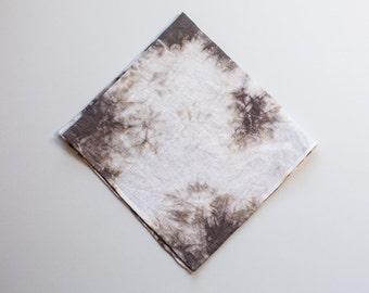 SALE Plum Linen Handkerchief