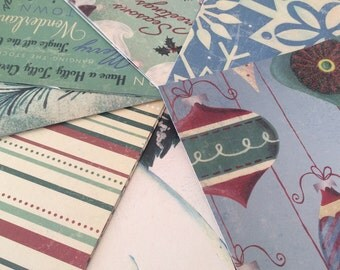 Retro Christmas Paper Pack, Christmas Scrapbook Paper and Cardstock, 6x6 Paper Stack - 30 Sheets